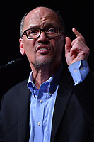 MIAMI, FL - APRIL 19: DNC Chair Tom Perez speaks during a 'Come Together and Fight Back' tour at the James L Knight Center on April 19, 2017 in Miami, Florida. Mr. Perez and Sen. Bernie Sanders (I-VT) spoke on topics  about raising the minimum wage, pay equity for women, making public colleges and universities tuition-free, comprehensive immigration reform and tax reform which demands that the wealthy and large corporations start paying their fair share of taxes.  <br /> CAP/MPI10<br /> &copy;MPI10/Capital Pictures