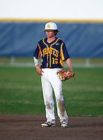 Boca Ciega Pirates first baseman Jake Dolcater (16) during a game against the Lakeland Spartans at Boca Ciega High School on March 2, 2016 in St. Petersburg, Florida.  Boca Ciega defeated Lakewood 2-1.  (Mike Janes/Four Seam Images)