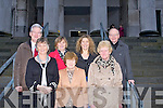 BEST WISHES: Mary J Murphy, Patricia Ryan and Marian Foley (front) who retired from Tralee Courthouse after 40 years service, pictured with their friends and colleagues on the steps on Friday. are Padraig Burke, Catherine Griffin and Sinead McDonnell and Micheal O Se .