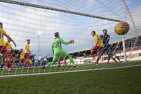 8th February 2020; Dens Park, Dundee, Scotland; Scottish Championship Football, Dundee versus Partick Thistle; Kane Hemmings of Dundee scores the opening goal to put his side 1-0 ahead in the 23rd minute