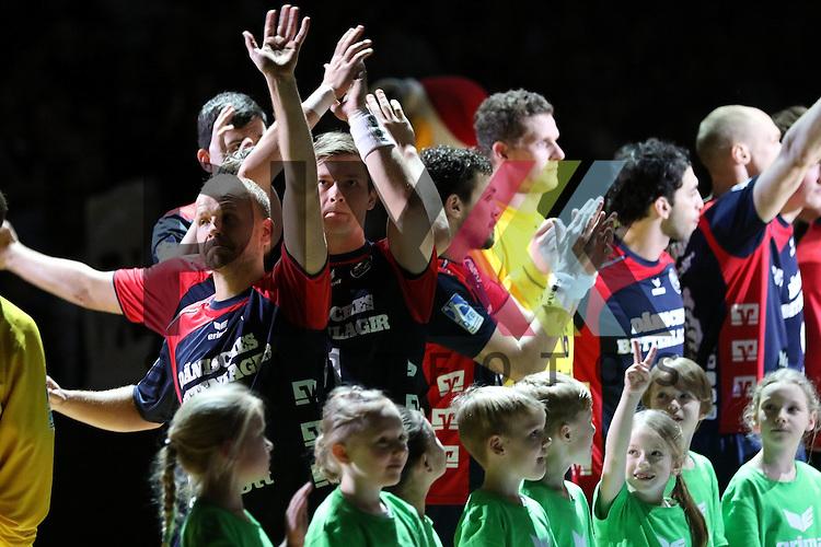 Flensburg, 25.02.15, Sport, Handball, DKB Bundesliga, 20. Spieltag, SG Flensburg-Handewitt - TuS N-L&uuml;bbecke<br /> <br /> Foto &copy; P-I-X.org *** Foto ist honorarpflichtig! *** Auf Anfrage in hoeherer Qualitaet/Aufloesung. Belegexemplar erbeten. Veroeffentlichung ausschliesslich fuer journalistisch-publizistische Zwecke. For editorial use only.