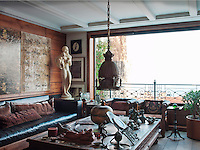 The living room overlooks the Asian part of Istanbul, including the Topkapi Palace, the Blue Mosque and the St Sophia mosque