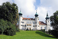 Austria, Lower Austria, Nibelungengau, close to the wine region of the Wachau, Artstetten: Archduke-Heir Francis Ferdinand's Castle of Artstetten, here the life and times of Archduke-Heir Francis Ferdinand, who was assassinated in Sarajewo, are still maintained