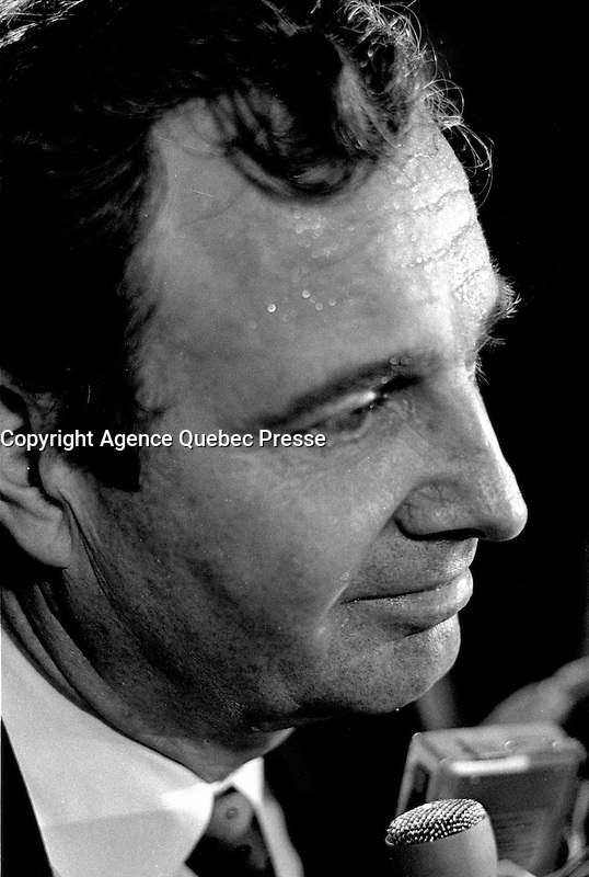 Montreal, CANADA - File Photo - Liberal candidate  for LaSalle-Emard :  Paul Martin , September 1, 1988.<br /> <br /> Martin later became liberal leader and Canada's Prime Minister from 2003 to 2006.<br /> <br /> Photo : Agence Quebec Presse  - Pierre Roussel