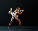 """London, UK. 15.03.2018. Ballet Black presents a double bill of """"The Suit"""", choreographed by Cathy Marston, and """"A Dream Within A Midsummer Night's Dream"""", choreographed by Arthur Pita, in the Barbican theatre. Shown here is: """"The Suit"""". Picture shows: Jose Alves (Philemon), Cira Robinson (Matilda). Photograph © Jane Hobson."""