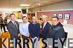 Junior Minister for the Department of Social protection Kevin Humphries came to Cremur heating in Tralee to meet with two people on a Jobs Plus scheme, from left: Arthur Spring TD, Nessan Crean, Michael Connolly Junior Minister Kevin Humphries and Barry Riordan.