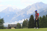 Ignacio Garrido (ESP) on the 13th during the 1st day of the Omega European Masters, Crans-Sur-Sierre, Crans Montana, Switzerland..Picture: Golffile/Fran Caffrey..