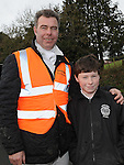 Andy Dunne and his son Dillon pictured at the Louth Hunt. Photo: Colin Bell/pressphotos.ie
