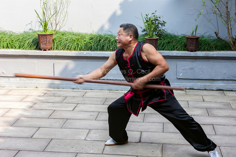 Wenzhou, Zhejiang, China.  Demonstration at the Martial Arts Museum.