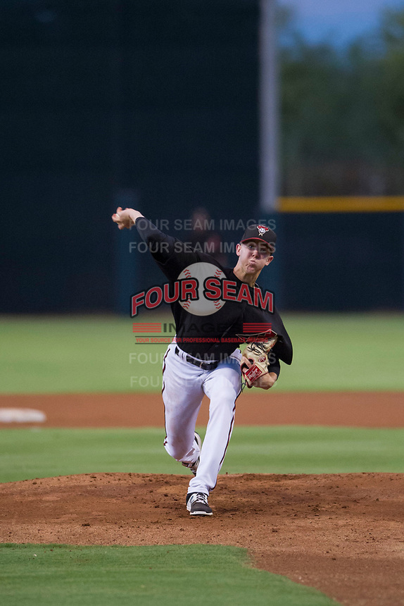 AZL Diamondbacks starting pitcher Matt Tabor (17) delivers a pitch to the plate against the AZL Padres 2 on August 29, 2017 at Salt River Fields at Talking Stick in Scottsdale, Arizona. AZL Diamondbacks defeated the AZL Padres 2 4-3. (Zachary Lucy/Four Seam Images)