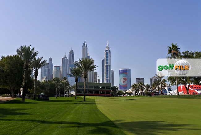 Looking down the 16th fairway during Round 4 of the Omega Dubai Desert Classic, Emirates Golf Club, Dubai,  United Arab Emirates. 27/01/2019<br /> Picture: Golffile | Thos Caffrey<br /> <br /> <br /> All photo usage must carry mandatory copyright credit (© Golffile | Thos Caffrey)