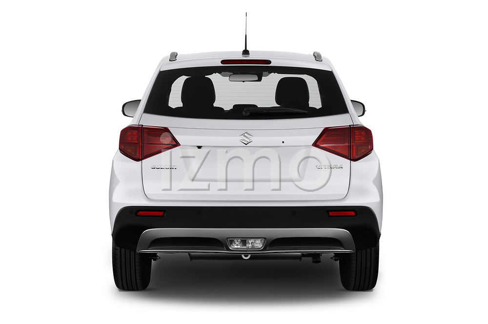 Straight rear view of a 2019 Suzuki Vitara Grand Luxe Xtra 5 Door SUV stock images