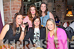 Girls night out at the Stone House on Saturday  front l-r Clodagh Hurley, Tracy Lacey, Adele Finn, back l-r  Sorcha Ryan and Clodagh O'Sullivan