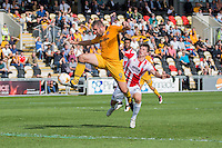 Jonathan Parkin of Newport County scores his side's second goal during the Sky Bet League 2 match between Newport County and Cheltenham Town at Rodney Parade, Newport, Wales on 10 September 2016. Photo by Mark  Hawkins / PRiME Media Images.
