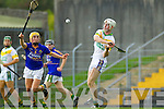 Shane Brick  Kilmoyley  in action against John Griffin Lixnaw in the Semi finals of the Kerry Senior Hurling Championship at Austin Stack Park, Tralee on Saturday.