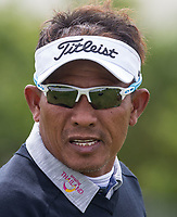 Thongchai Jaidee (Thailand) during the GOLFSIXES ProAm  at Centurion Club, St Albans, England on 5 May 2017. Photo by Andy Rowland.