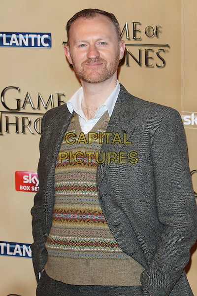 LONDON, ENGLAND - MARCH 18:Mark Gatiss  arrives for the world premiere of Game of Thrones Season 5 at Tower of London on March 18, 2015 in London, England<br /> CAP/ROS<br /> &copy; Steve Ross/Capital Pictures