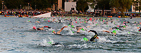Swimmers start the 2017 IRONMAN Wisconsin on Sunday, September 10 in Madison