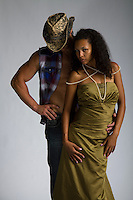 Western cowboy and black woman interracial themed Romance Novel cover stock photographs by Jenn LeBlanc for Illustrated Romance