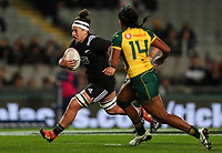 Charmaine McMenamin in action during the International Women's Rugby match between the New Zealand All Blacks and Australia Wallabies at Eden Park in Auckland, New Zealand on Saturday, 17 August 2019. Photo: Simon Watts / lintottphoto.co.nz