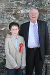 Aaron Scullion and his Grandad William Sadleir at his Confirmation in Clogherhead Church...Photo NEWSFILE/Jenny Matthews.(Photo credit should read Jenny Matthews/NEWSFILE)....This Picture has been sent you under the condtions enclosed by:.Newsfile Ltd..The Studio,.Millmount Abbey,.Drogheda,.Co Meath..Ireland..Tel: +353(0)41-9871240.Fax: +353(0)41-9871260.GSM: +353(0)86-2500958.email: pictures@newsfile.ie.www.newsfile.ie.FTP: 193.120.102.198.
