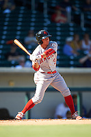 Scottsdale Scorpions David Fletcher (3), of the Los Angeles Angels of Anaheim organization, during a game against the Mesa Solar Sox on October 21, 2016 at Sloan Park in Mesa, Arizona.  Mesa defeated Scottsdale 4-3.  (Mike Janes/Four Seam Images)