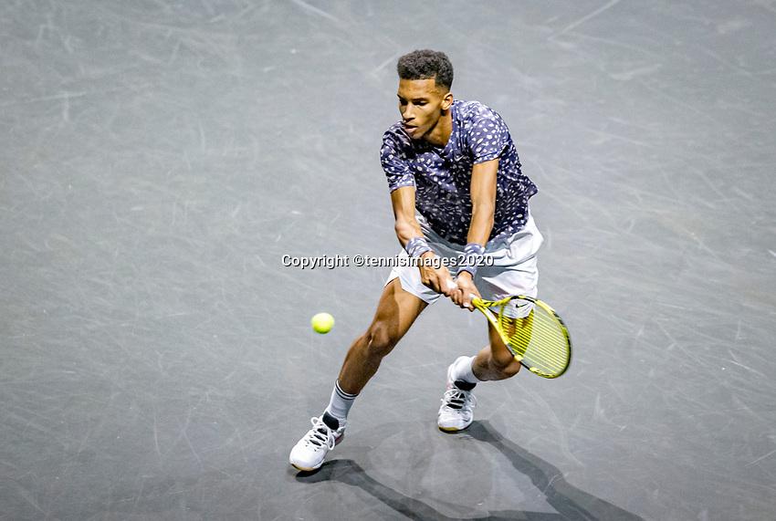 Rotterdam, The Netherlands, 14 Februari 2020, ABNAMRO World Tennis Tournament, Ahoy,  Felix Auger-Aliassime (CAN).<br /> Photo: www.tennisimages.com