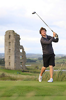 Shaun O'Connor (Luttrellstown Castle) on the 13th tee during Round 2 of The South of Ireland in Lahinch Golf Club on Sunday 27th July 2014.<br /> Picture:  Thos Caffrey / www.golffile.ie