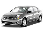 Front three quarter view of a 2012 Nissan Sentra S .