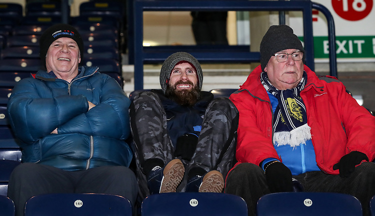 Preston North End supporter<br /> <br /> Photographer Andrew Kearns/CameraSport<br /> <br /> The EFL Sky Bet Championship - Preston North End v Derby County - Friday 1st February 2019 - Deepdale Stadium - Preston<br /> <br /> World Copyright © 2019 CameraSport. All rights reserved. 43 Linden Ave. Countesthorpe. Leicester. England. LE8 5PG - Tel: +44 (0) 116 277 4147 - admin@camerasport.com - www.camerasport.com