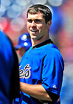 6 March 2010: New York Mets' catcher Josh Thole awaits his turn in the batting cage prior to a Spring Training game against the Washington Nationals at Space Coast Stadium in Viera, Florida. The Mets defeated the Nationals 14-6 in Grapefruit League action. Mandatory Credit: Ed Wolfstein Photo