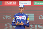 Enric Mas Nicolau (ESP) Quick-Step Floors finishes in 6th place and leads the young riders competition at the end of Stage 19 of the La Vuelta 2018, running 154.4km from Lleida to Andorra, Naturlandia, Andorra. 14th September 2018.                   <br /> Picture: Colin Flockton | Cyclefile<br /> <br /> <br /> All photos usage must carry mandatory copyright credit (© Cyclefile | Colin Flockton)