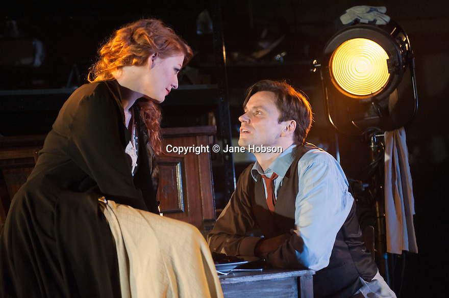 MACK & MABEL opens at Southwark Playhouse. Picture shows:  Laura Pitt-Pulford (as Mabel) and Norman Bowman (as Mack).