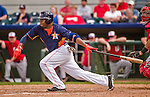12 March 2014: Houston Astros outfielder Delino DeShields Jr. in action during a Spring Training game against the Washington Nationals at Osceola County Stadium in Kissimmee, Florida. The Astros rallied in the bottom of the 9th to edge out the Nationals 10-9 in Grapefruit League play. Mandatory Credit: Ed Wolfstein Photo *** RAW (NEF) Image File Available ***