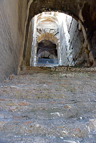 Detail of one of the closed inner passageways where spectators passed to go to and from their seats within the Colosseum, also known as the Flavian Amphitheatre, in Rome, Italy on Friday, May 25, 2012..Credit: Ron Sachs / CNP