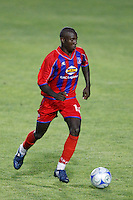 Crystal Palace forward Matthew Mbuta (12). The New England Revolution (MLS) defeated Crystal Palace FC USA of Baltimore (USL2) 5-3 in penalty kicks after finishing regulation and overtime tied at 1-1 during a Lamar Hunt US Open Cup quarterfinal match at Veterans Stadium in New Britain, CT, on July 8, 2008.