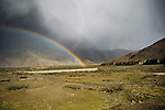 Rainbows along the Friendship highway, leading from Lhasa to Kathmandu.
