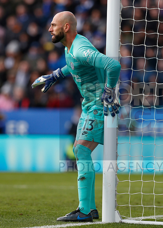 Willy Caballero of Chelsea during the Premier League match against Leicester City at the King Power Stadium, Leicester. Picture date: 1st February 2020. Picture credit should read: Darren Staples/Sportimage