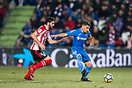 Mauro Wilney Arambarri Rosa of Getafe CF (R) fights for the ball with Raul Garcia Escudero of Athletic Club de Bilbao (L) during the La Liga 2017-18 match between Getafe CF and Athletic Club at Coliseum Alfonso Perez on 19 January 2018 in Madrid, Spain. Photo by Diego Gonzalez / Power Sport Images