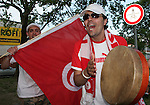 19 June 2006: Tunisia fans. Spain played Tunisia at the Gottlieb-Daimler Stadion in Stuttgart, Germany in match 31, a Group H first round game, of the 2006 FIFA World Cup.