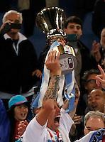 incidenti prima <br />  l'incontro di calcio Finale  Tim Cup  SSC  Napoli vs Fiorentina   allo  Stadio Olimpico   di Napoli ,03 Maggio 2014<br /> Foto ciro de luca