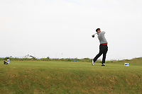 Charlie Salter (ENG) on the 1st tee during Round 1of the Flogas Irish Amateur Open Championship 2019 at the Co.Sligo Golf Club, Rosses Point, Sligo, Ireland. 16/05/19<br /> <br /> Picture: Thos Caffrey / Golffile<br /> <br /> All photos usage must carry mandatory copyright credit (© Golffile | Thos Caffrey)