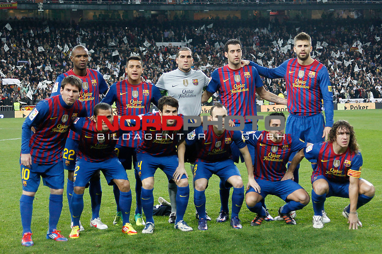 18.01.2012, Estadio Santiago Bernabéu, ESP, Madrid, Kings Cup, Real Madrid vs FC Barcelona, im Bild  FC Barcelona's team photo during spanish King's Cup on January 18th 2012...Photo: Alex Cid-Fuentes / Foto © nph