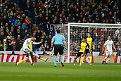 6th December 2017, Santiago Bernabeu, Madrid, Spain; UEFA Champions League football, Real Madrid versus Dortmund; Cristiano Ronaldo dos Santos (7) Real Madrid shoots and scores his team´s 2nd goal for 2-0
