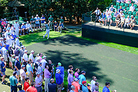 Lucas Bjerregaard (DEN) on the 16th tee during Wednesdays preview at the The Masters , Augusta National, Augusta, Georgia, USA. 10/04/2019.<br /> Picture Fran Caffrey / Golffile.ie<br /> <br /> All photo usage must carry mandatory copyright credit (&copy; Golffile | Fran Caffrey)