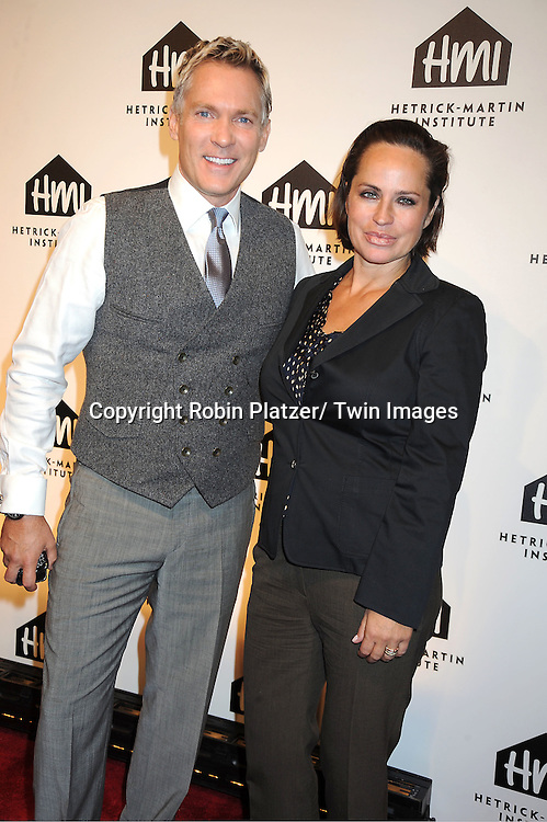Sam Champion and actress  Crystal Chappell attends the 25th Annual Emery Awards on November 10, 2011 at Cipriani Wall Street in New York City.  The Awards are presented by The Hetrick-Martin Institute.