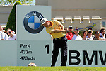Damien McGrane tees off from the 1st tee to start  Round 3 of the BMW PGA Championship at  Wentworth, Surrey, England, 22nd May 2010..Photo Golffile/Eoin Clarke.(Photo credit should read Eoin Clarke www.golffile.ie)....This Picture has been sent you under the condtions enclosed by:.Newsfile Ltd..The Studio,.Millmount Abbey,.Drogheda,.Co Meath..Ireland..Tel: +353(0)41-9871240.Fax: +353(0)41-9871260.GSM: +353(0)86-2500958.email: pictures@newsfile.ie.www.newsfile.ie.