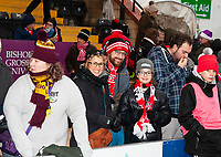 Lincoln City fans enjoy the pre-match atmosphere<br /> <br /> Photographer Andrew Vaughan/CameraSport<br /> <br /> The EFL Sky Bet League Two - Saturday 15th December 2018 - Lincoln City v Morecambe - Sincil Bank - Lincoln<br /> <br /> World Copyright © 2018 CameraSport. All rights reserved. 43 Linden Ave. Countesthorpe. Leicester. England. LE8 5PG - Tel: +44 (0) 116 277 4147 - admin@camerasport.com - www.camerasport.com