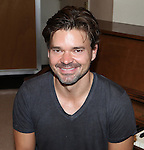 Hunter Foster rehearsing for  'Borrowed Dust' part of  'Inner Voices' A Trilogy about Intimate Explorations of Courage, Loss and Acceptance at the MTC Studios on 10/23/2012 in New York City.