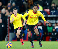 AndrÈ Carrillo of Watford during the EPL - Premier League match between Crystal Palace and Watford at Selhurst Park, London, England on 12 December 2017. Photo by Carlton Myrie / PRiME Media Images.